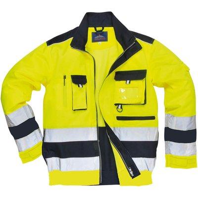 Portwest Lille Hi Vis Jacket Yellow / Navy L