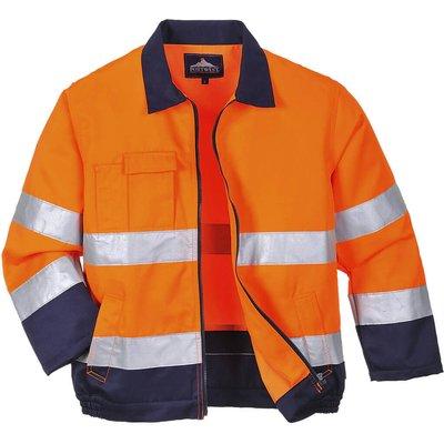 Portwest Madrid Hi Vis Jacket Orange / Navy M