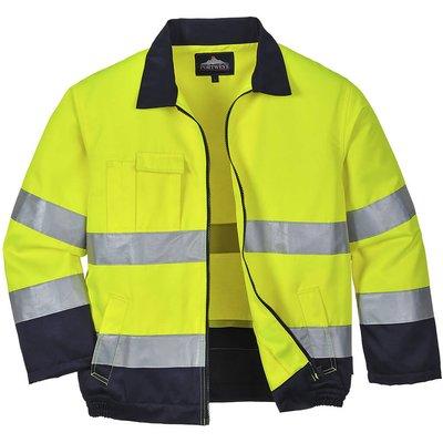 Portwest Madrid Hi Vis Jacket Yellow / Navy S