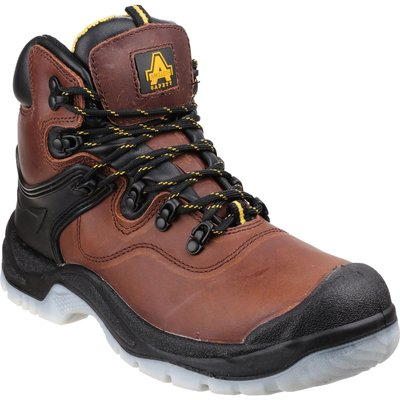 Amblers Mens Safety FS197 Shock Absorbing Waterproof Safety Boots Brown
