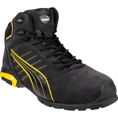 Puma Mens Safety Amsterdam Mid Safety Boots Black