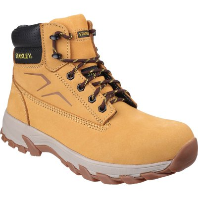 Stanley Mens Tradesman Safety Boots Honey