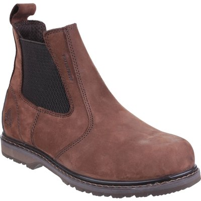 Amblers Mens Safety As148 Sperrin Lightweight Waterproof Pull On Dealer Safety Boots Brown
