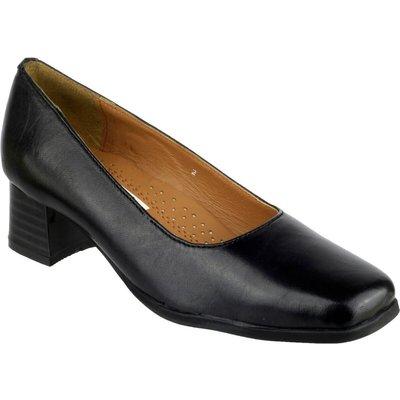 Amblers Walford Ladies Shoes Wide Fit Court Black