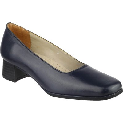 Amblers Walford Ladies Shoes Leather Court Navy
