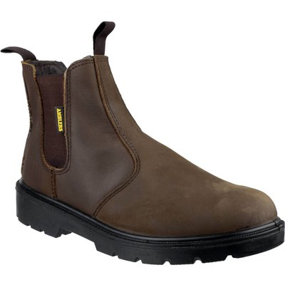 Amblers Mens Safety FS128 Hardwearing Pull On Safety Dealer Boots Brown