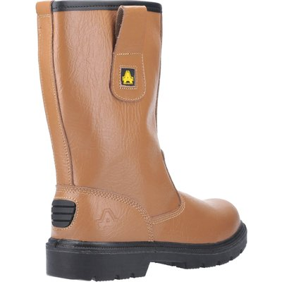 Amblers Mens Safety FS124 Water Resistant Pull On Safety Rigger Boots Tan