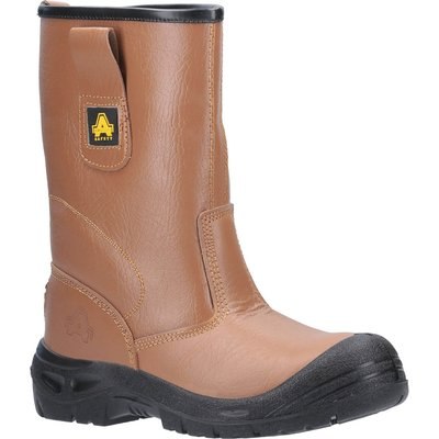 Amblers Mens Safety FS142 Water Resistant Safety Rigger Boots Tan
