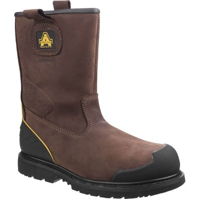 Amblers Mens Safety FS223 Goodyear Welted Waterproof Pull On Industrial Safety Boots Brown
