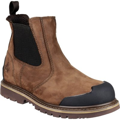 Amblers Mens Safety FS225 Goodyear Welted Waterproof Pull On Chelsea Safety Boots6 Brown