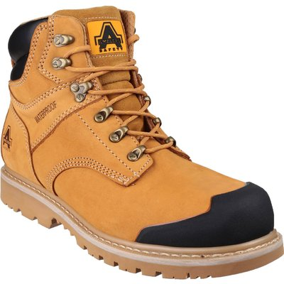 Amblers Mens Safety FS226 Goodyear Welted Waterproof Industrial Safety Boots Honey