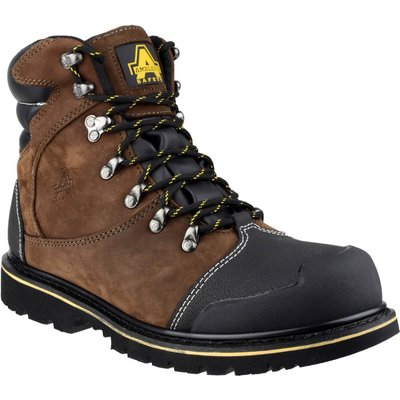 Amblers Mens Safety FS227 Goodyear Welted Waterproof Industrial Safety Boots Brown