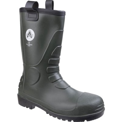 Amblers Mens Safety FS97 PVC Rigger Boots Green
