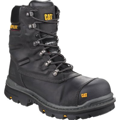 Caterpillar Mens Premier Waterproof Safety Boots Black