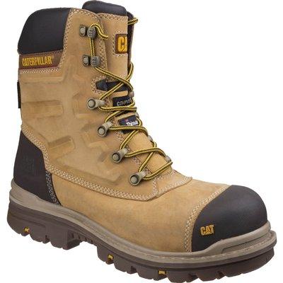 Caterpillar Mens Premier Waterproof Safety Boots Honey