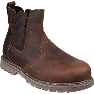 Amblers Safety Pull On Dealer Safety Boots Brown