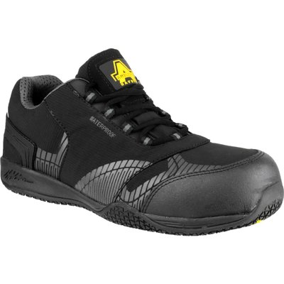 Amblers Safety FS29C Waterproof Metal Free Non Leather Safety Trainer Black
