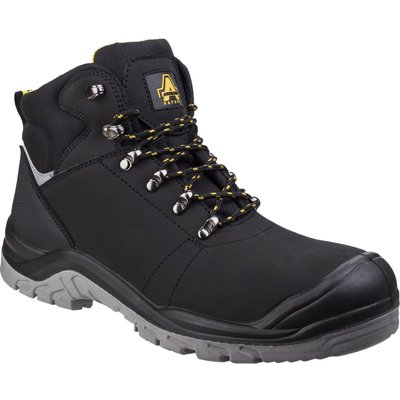 Amblers Mens Safety As252 Lightweight Water Resistant Leather Safety Boots Black