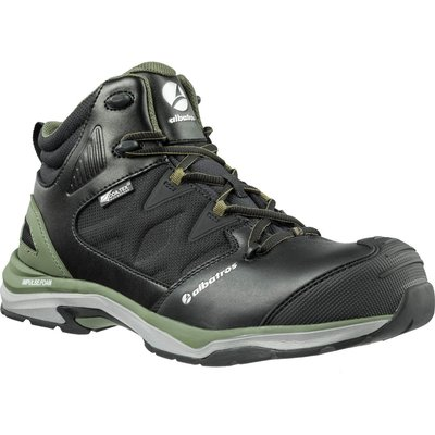 Albatros Mens Ultratrail Olive Ctx Mid Safety Boots Black / Olive
