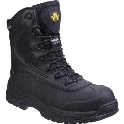 Amblers Mens Safety AS440 Hybrid Metal Free Hi-Leg Waterproof Safety Boots Black