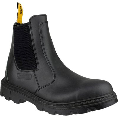 Amblers Mens Safety FS129 Water Resistant Pull On Safety Dealer Boots Black