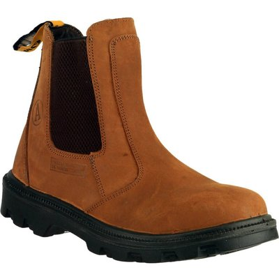 Amblers Mens Safety FS131 Water Resistant Pull On Safety Dealer Boots Brown