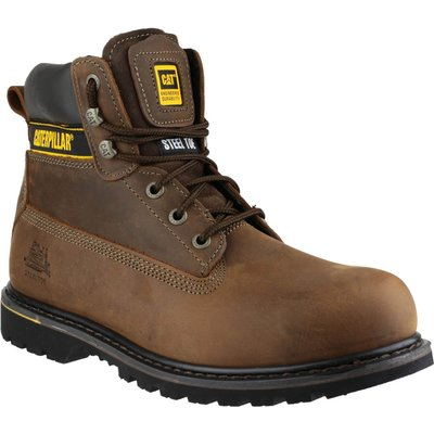 Caterpillar Mens Holton Safety Boots Brown