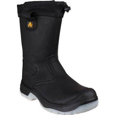 Amblers Mens Safety FS209 Water Resistant Pull On Safety Rigger Boots Black