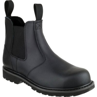 Amblers Mens Safety FS5 Goodyear Welted Pull On Safety Dealer Boots Black