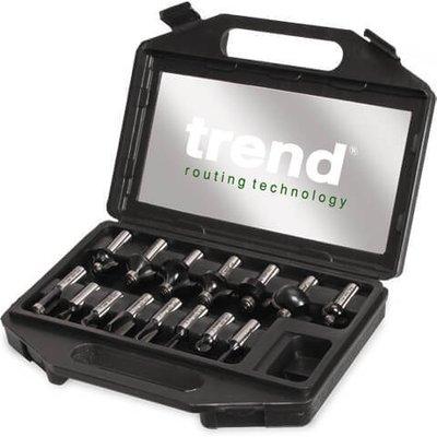 Trend 15 Piece 1/2 Shank Router Cutter Starter Set