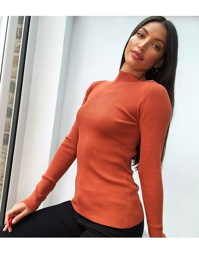 Arancione donna Top a maniche lunghe in maglia arancione - 4th&Reckless Tall