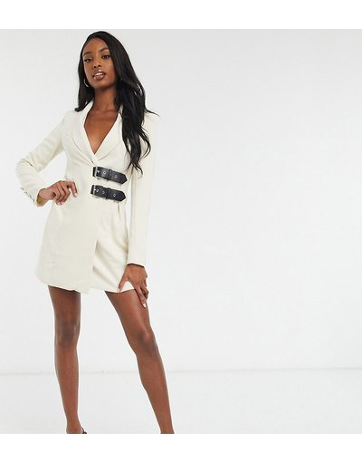 Crema donna Vestito blazer color crema con fibbie - 4th&Reckless Tall