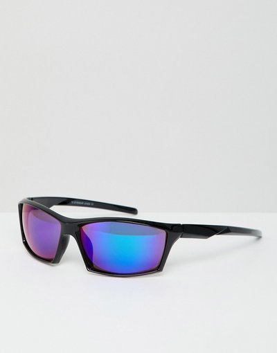 Occhiali Blu uomo Occhiali da sole neri - 7X - Blu