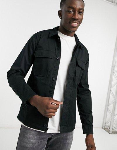 Camicia Nero uomo Abercrombie&Fitch - Camicia giacca nera - Nero