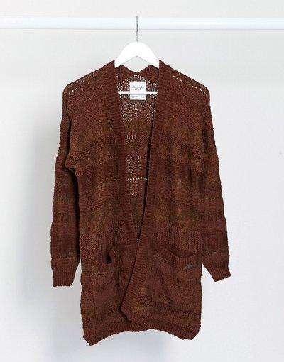 Oro donna Cardigan aperto in maglia leggera cappuccino - Abercrombie&Fitch - Oro