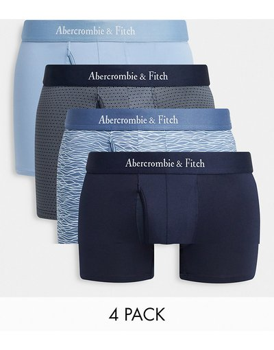 Intimo Multicolore uomo Confezione da 4 boxer aderenti multi con elastico con logo in vita - Abercrombie&Fitch - Multicolore
