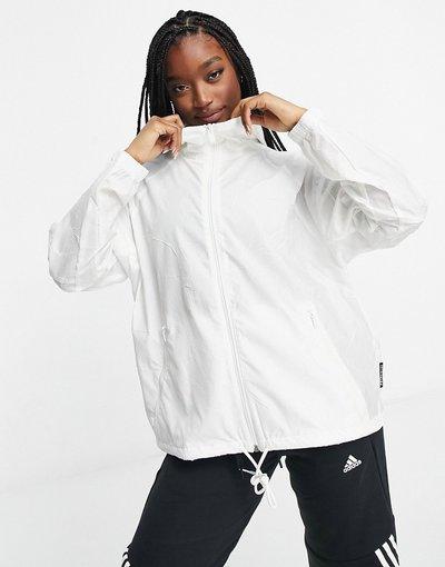 Bianco donna Giacca a vento bianca - adidas - Bianco