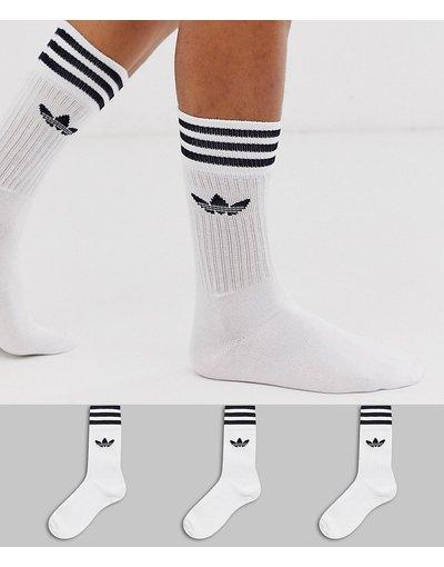 Intimo Bianco uomo Confezione da 3 paia di calzini bianchi - adicolor Trefoil - adidas Originals - Bianco
