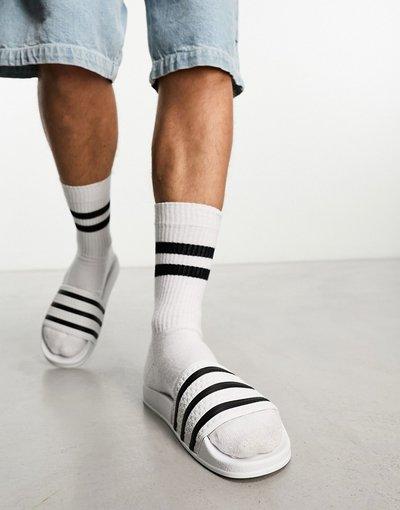 Novita Bianco uomo adidas Originals - Slider bianche - Adilette - Bianco