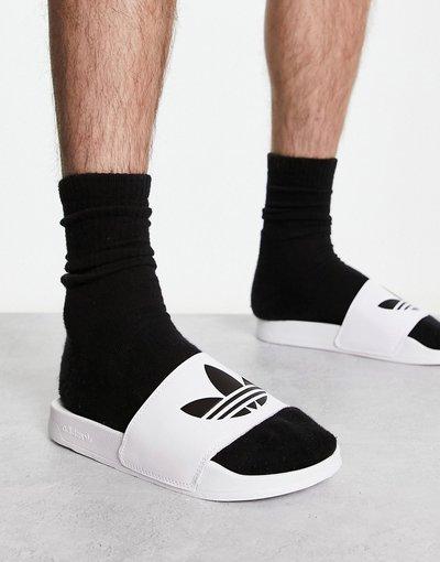 Novita Bianco uomo Slider leggere bianche - adidas Originals - adilette - Bianco