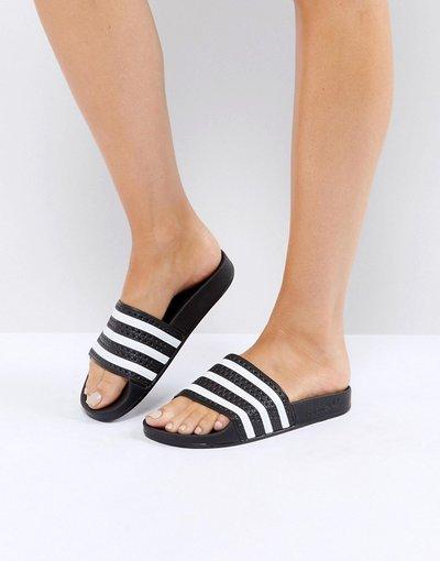Infradito Bianco donna Slider nere e bianche - adidas Originals - Adilette - Bianco
