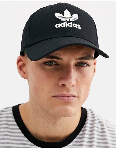 Cappello Nero uomo Cappello con visiera e trifoglio nero - adidas Originals - adicolor