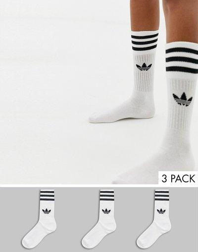 corsa tremito mostro  Confezione da 3 paia di calzini bianchi con trifoglio - adidas Originals -  Bianco - donna
