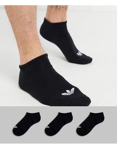 Intimo Nero uomo Confezione da 3 paia di calzini sportivi neri con logo con trifoglio - adicolor Trefoil - adidas Originals - Nero