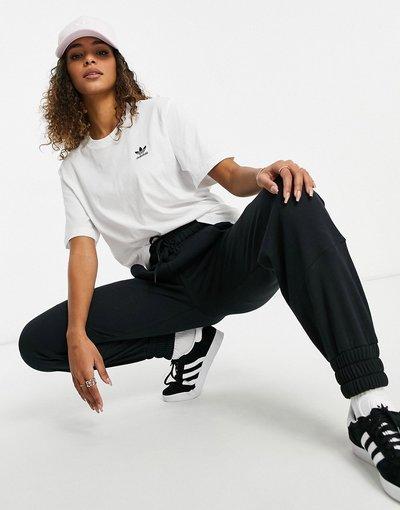T-shirt Bianco donna shirt bianca con logo mini - adidas Originals - Essential - Bianco - T