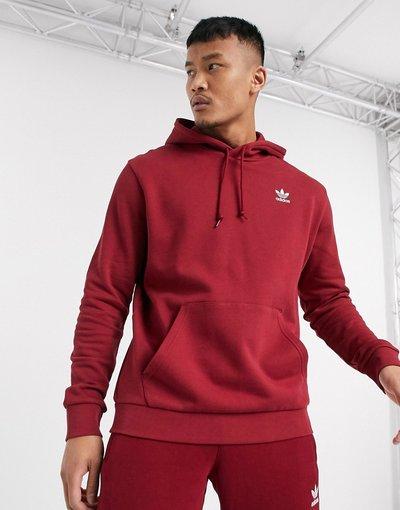 solo dominio non  Felpa bordeaux con cappuccio e logo piccolo - adidas Originals essentials -  Rosso - uomo
