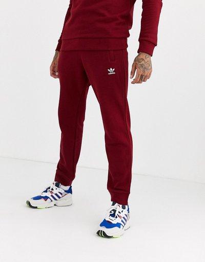 Pantalone Rosso uomo Joggers con logo ricamato bordeaux - adidas Originals - Rosso