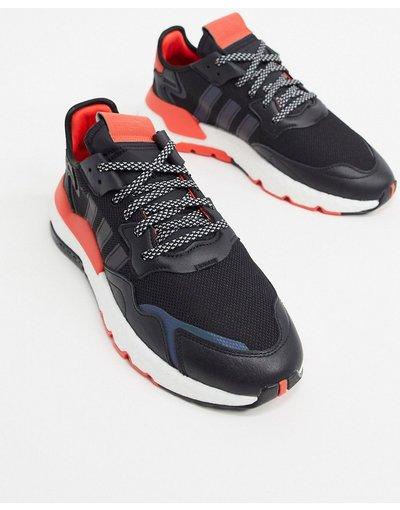 Sneackers Nero uomo Sneakers a righe iridescenti nere - adidas Originals - Nite Jogger - Nero