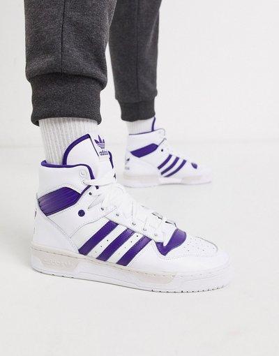 Stivali Multicolore uomo Sneakers alte bianche e viola - adidas Originals - Multicolore - Rivalry