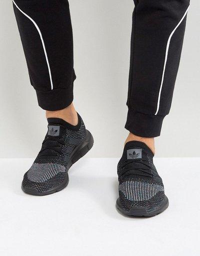 Nero uomo Swift Run Primeknit CG4127 - Scarpe da ginnastica nere - adidas Originals - Nero